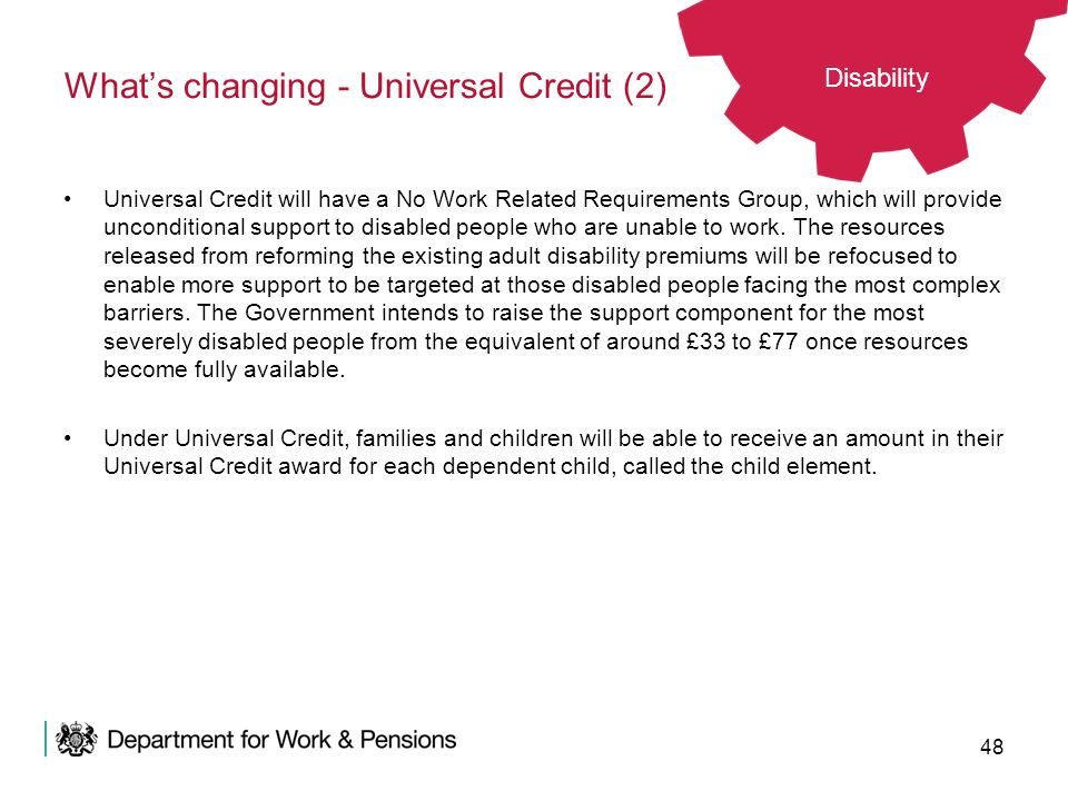 What's changing - Universal Credit (2)