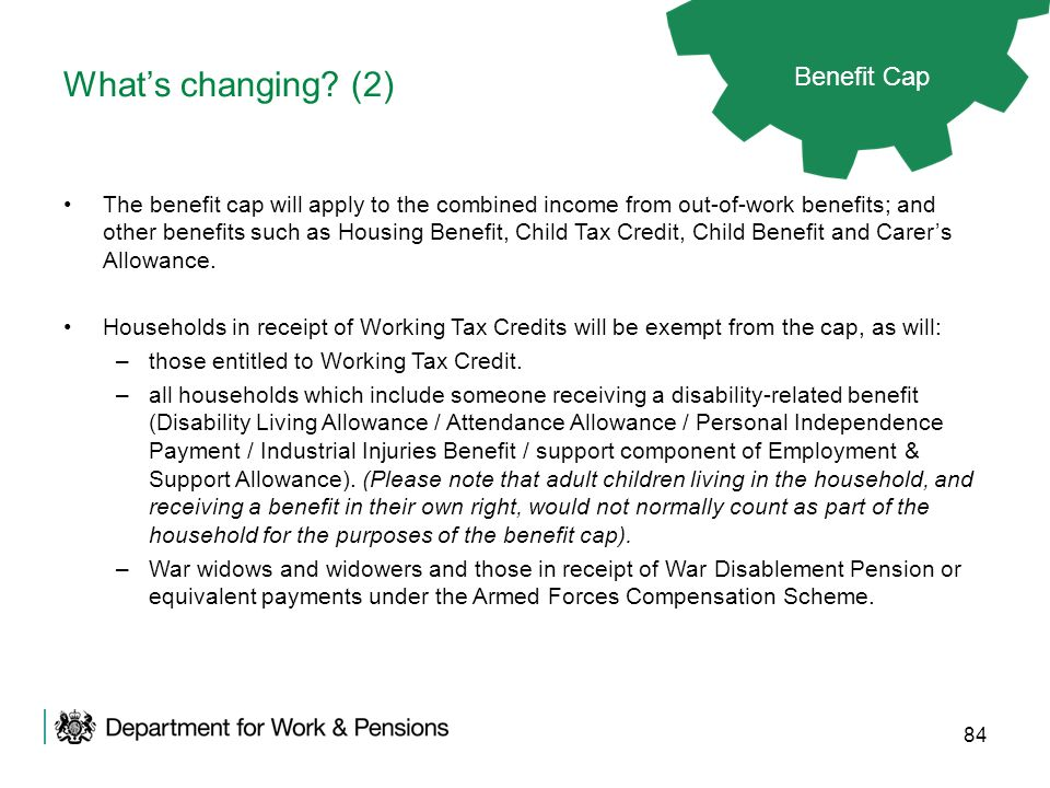 What's changing (2) Benefit Cap