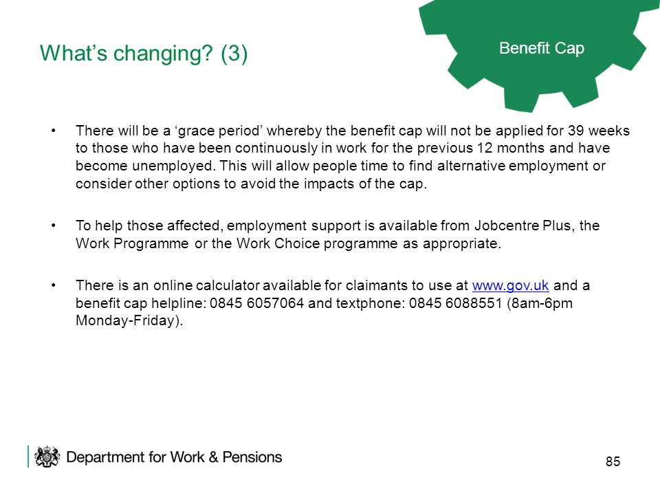What's changing (3) Benefit Cap