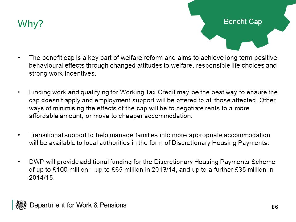 Why Benefit Cap.