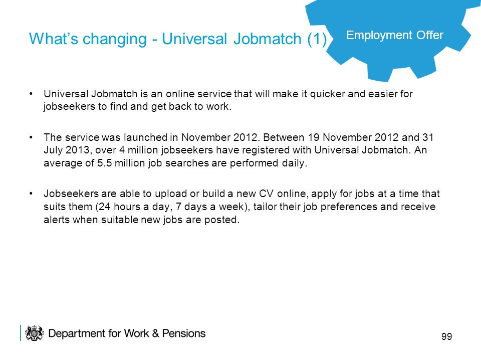 What's changing - Universal Jobmatch (1)