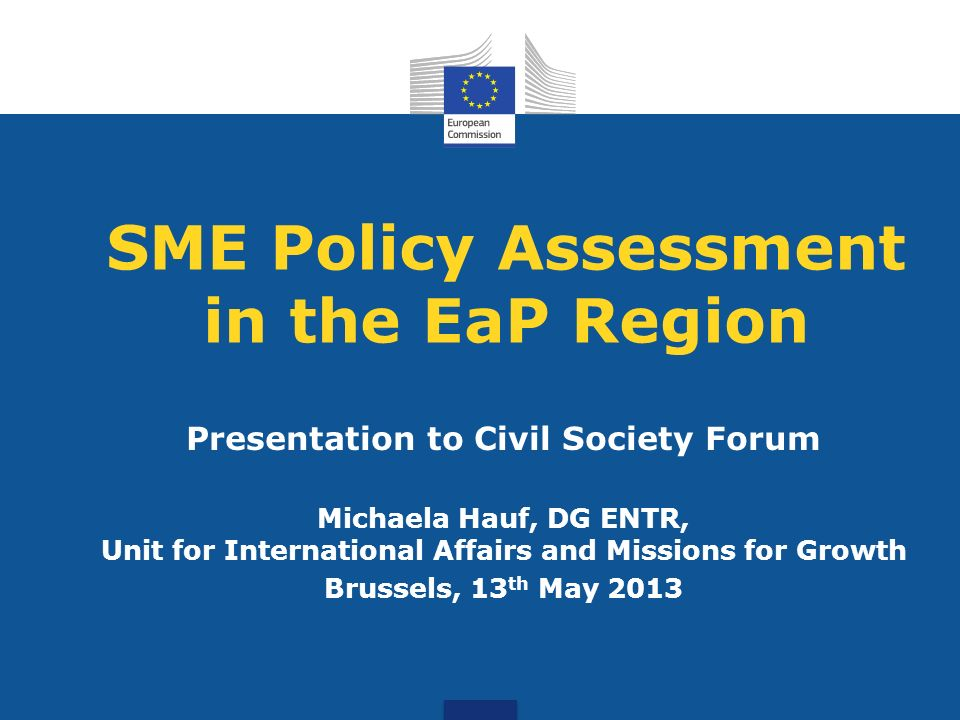 SME Policy Assessment in the EaP Region