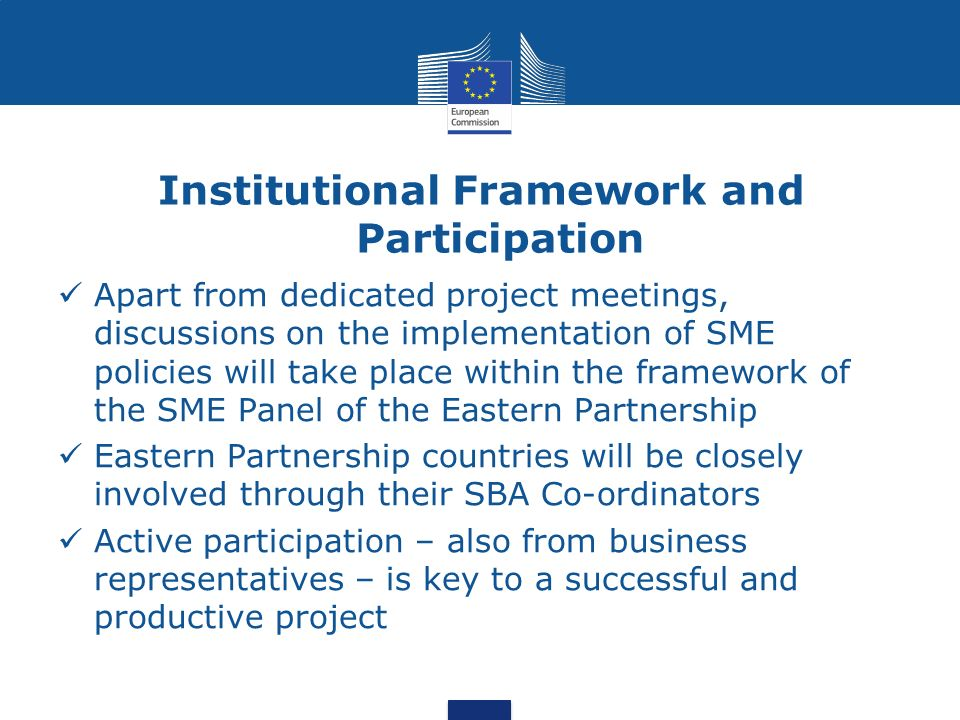 Institutional Framework and Participation