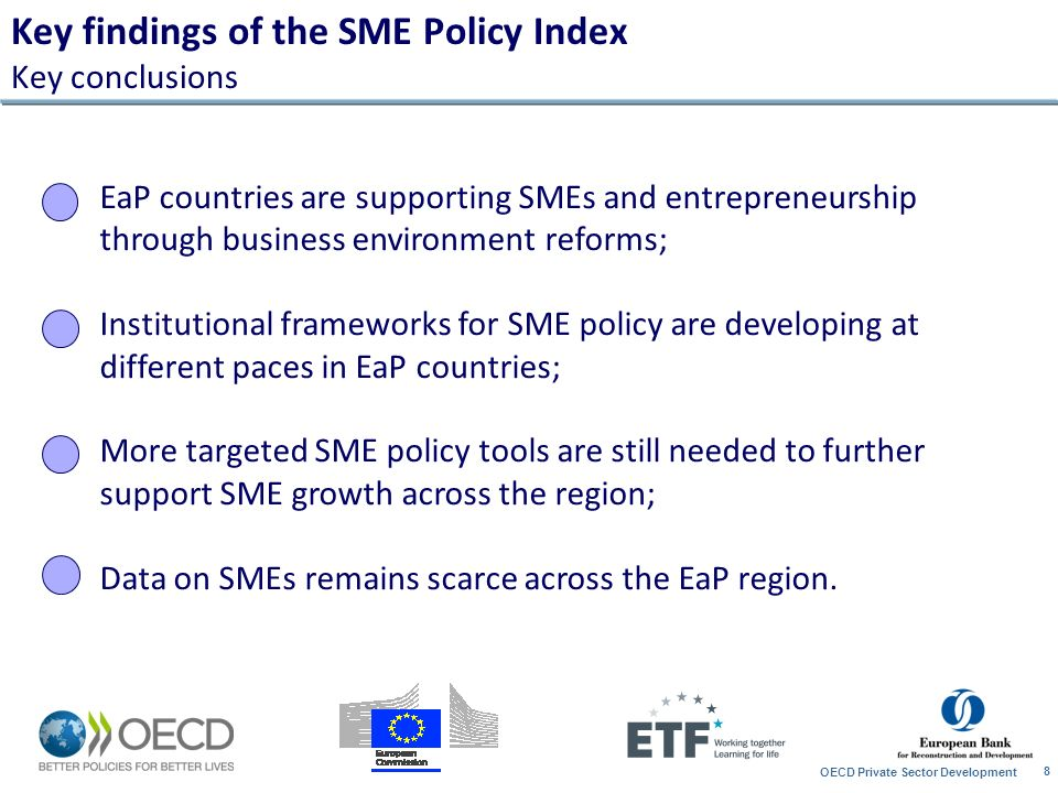 Key findings of the SME Policy Index