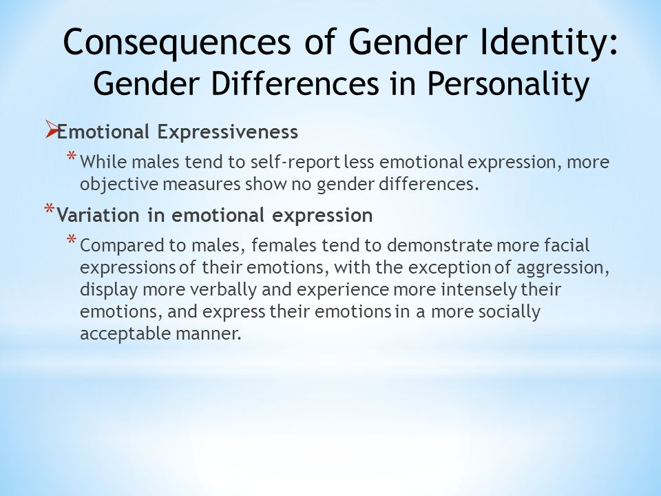 Consequences of Gender Identity: