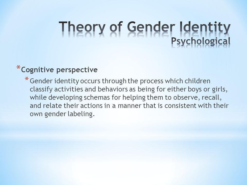 Theory of Gender Identity Psychological