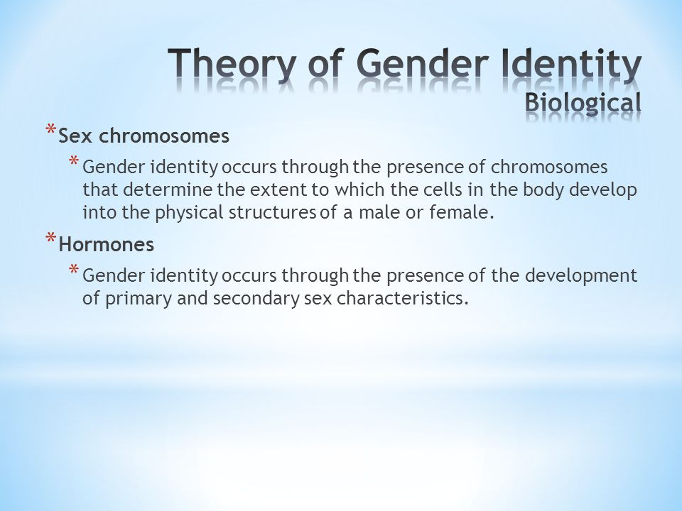Theory of Gender Identity Biological