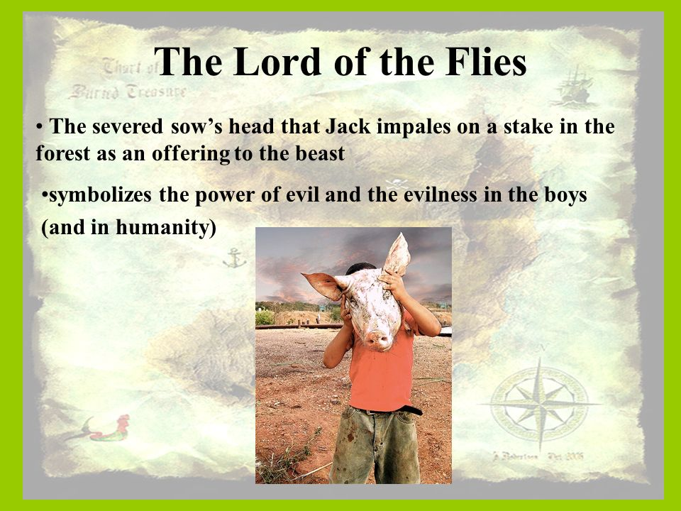 the sow's head and the conch Two of the symbols which are the conch and the sow's head contain powers that are opposite of each other and they have a great affect on the boys lord of the flies would be a different story without symbols.