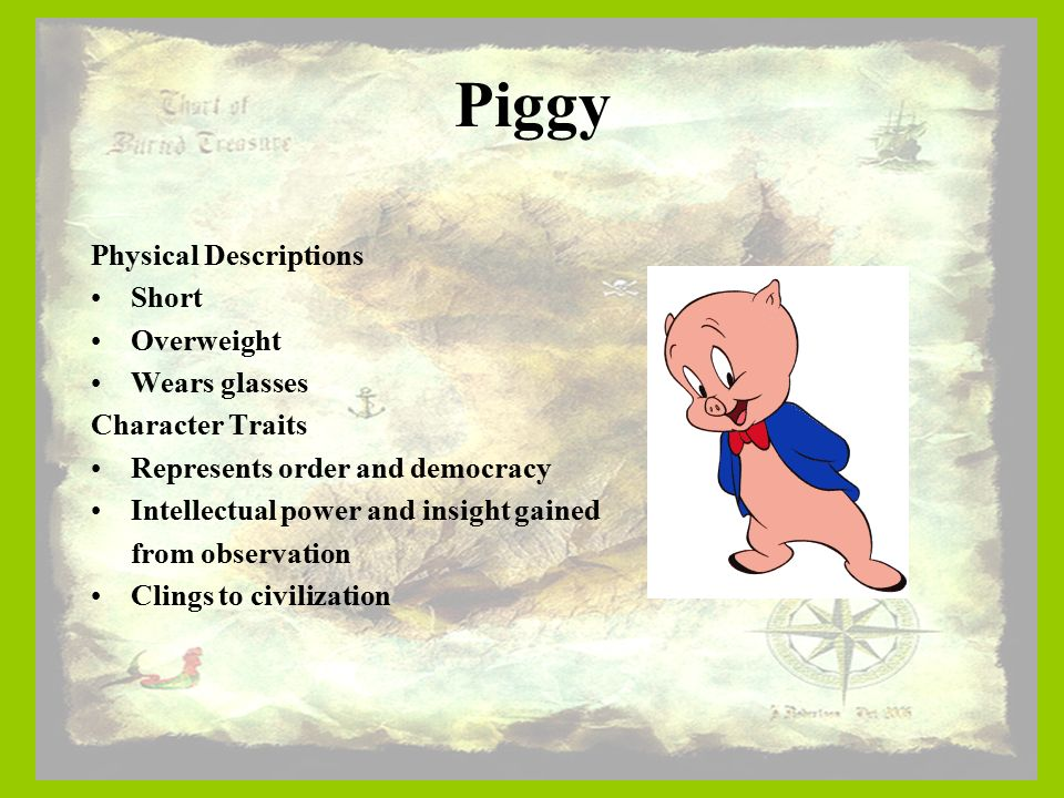 piggys loss master for the actual lures essay