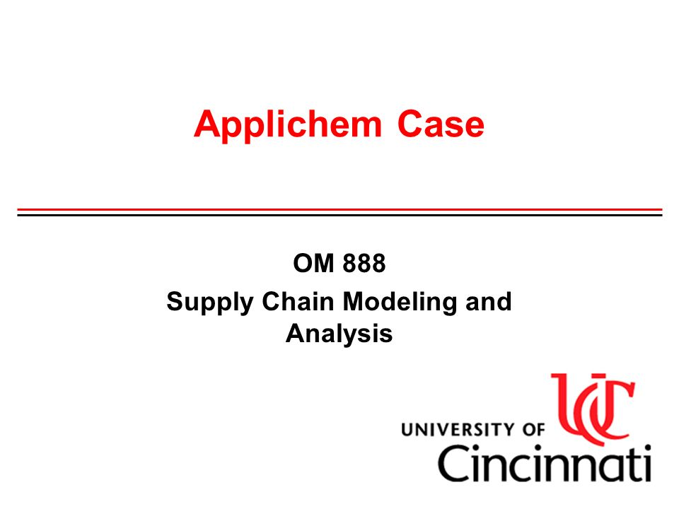 applichem case 2 Applichem is a us based specialize chemical manufacturing company that has been established even before world war 2 it is an established company which supply products.