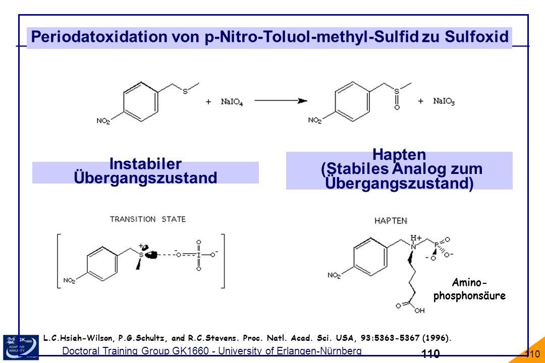 Periodatoxidation von p-Nitro-Toluol-methyl-Sulfid zu Sulfoxid