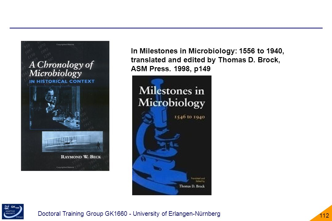 In Milestones in Microbiology: 1556 to 1940, translated and edited by Thomas D.
