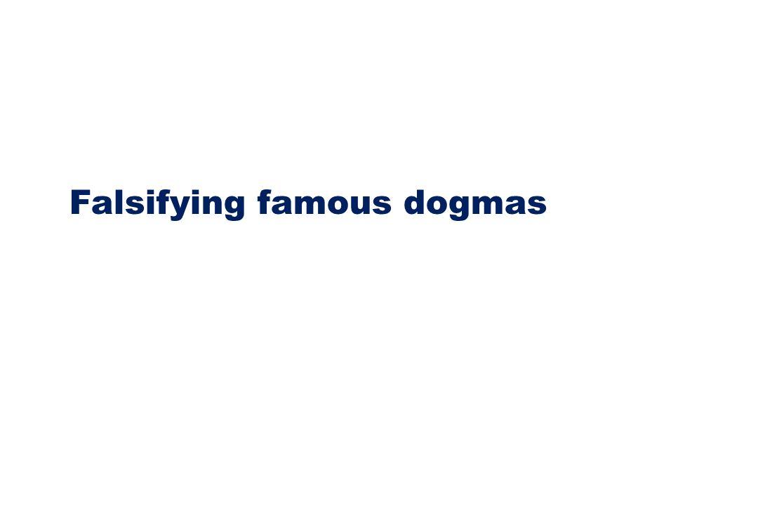 Falsifying famous dogmas