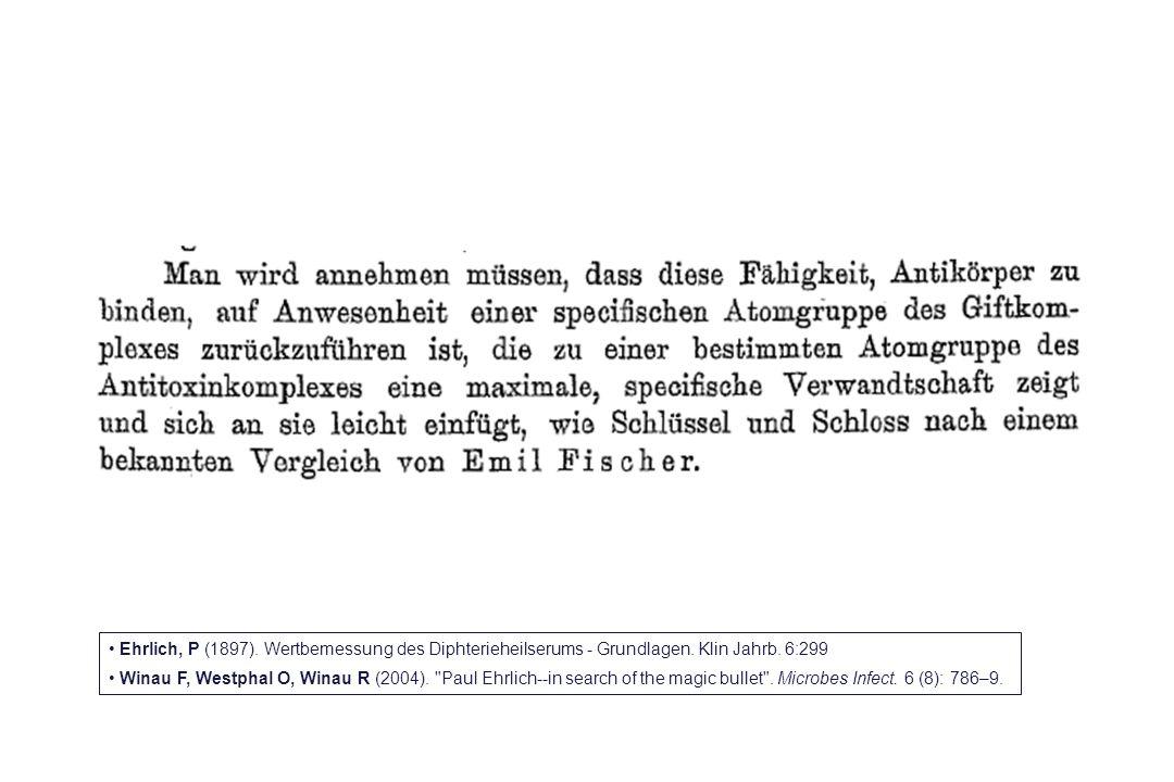 Ehrlich, P (1897). Wertbemessung des Diphterieheilserums - Grundlagen