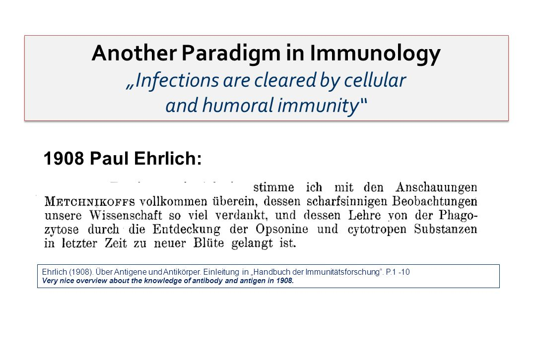 Another Paradigm in Immunology
