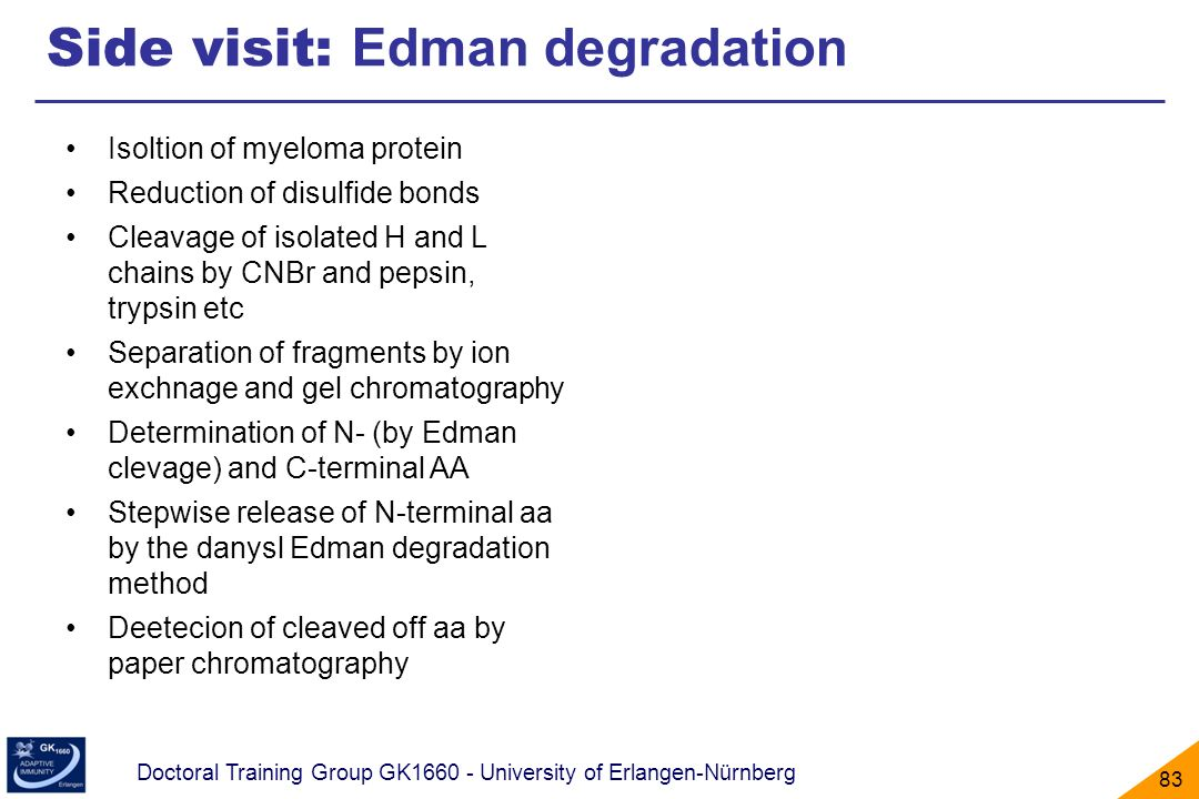 Side visit: Edman degradation