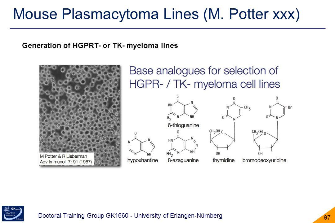 Mouse Plasmacytoma Lines (M. Potter xxx)