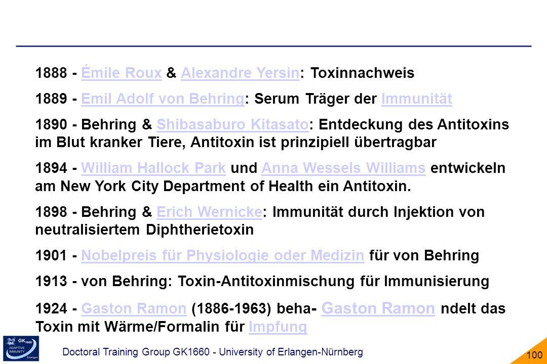 1888 - Émile Roux & Alexandre Yersin: Toxinnachweis