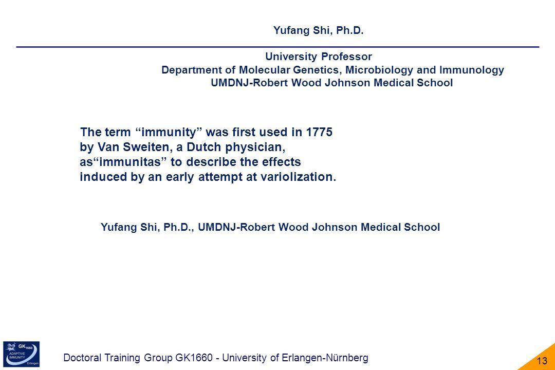 Yufang Shi, Ph.D., UMDNJ-Robert Wood Johnson Medical School