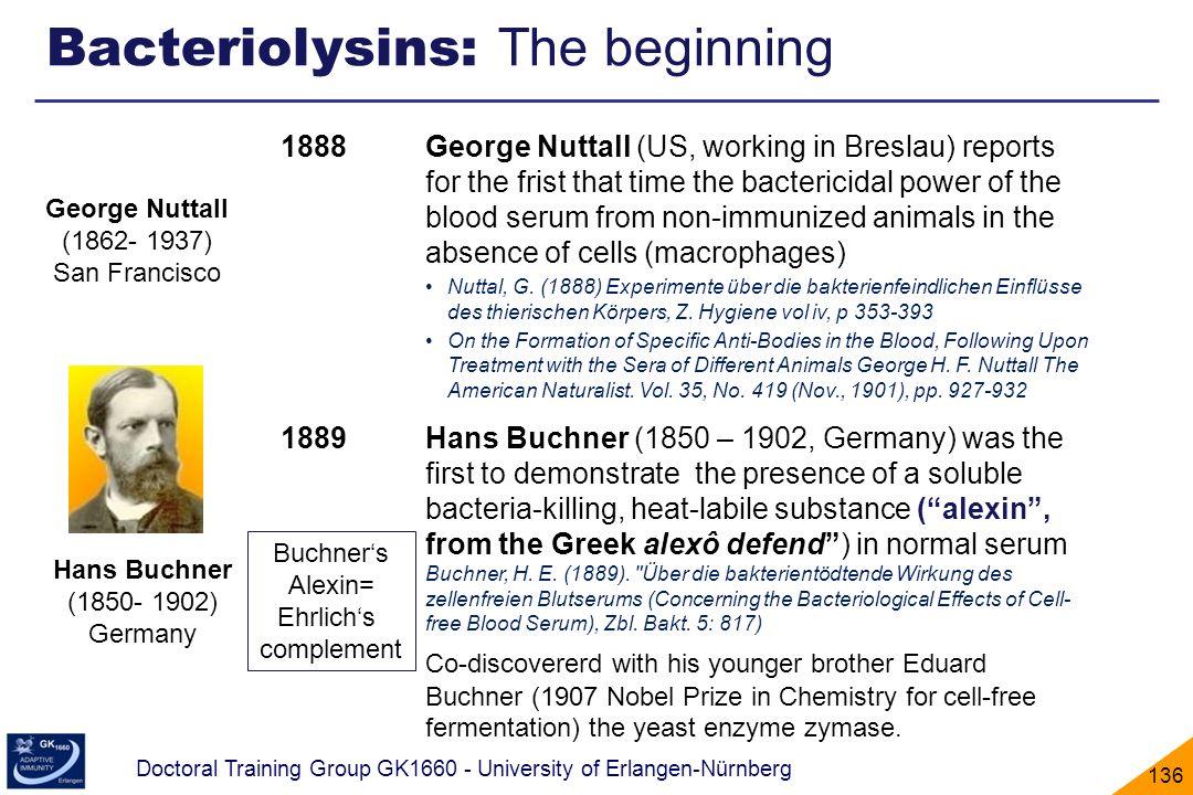 Bacteriolysins: The beginning