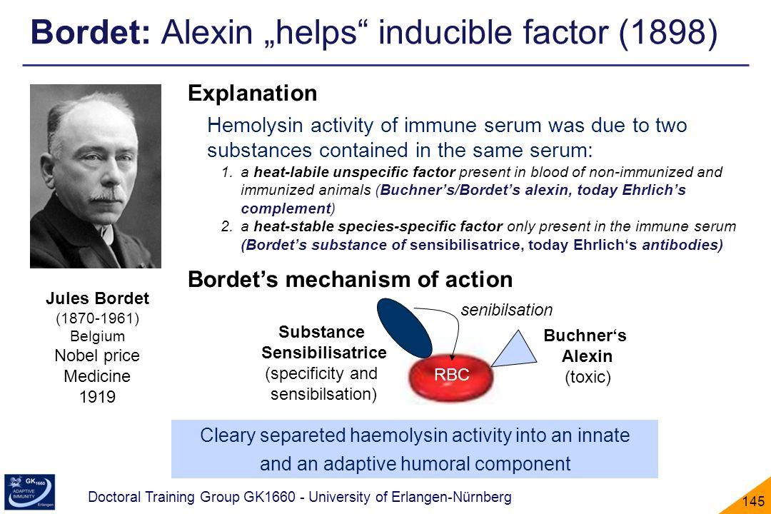 """Bordet: Alexin """"helps inducible factor (1898)"""