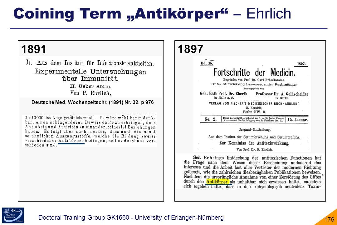"Coining Term ""Antikörper – Ehrlich"