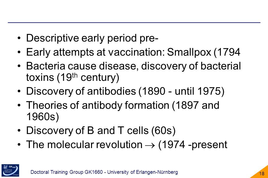 Descriptive early period pre-