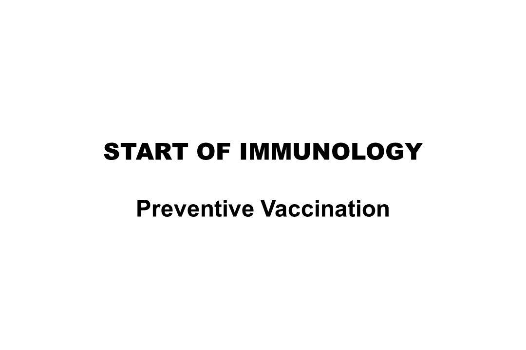 Preventive Vaccination