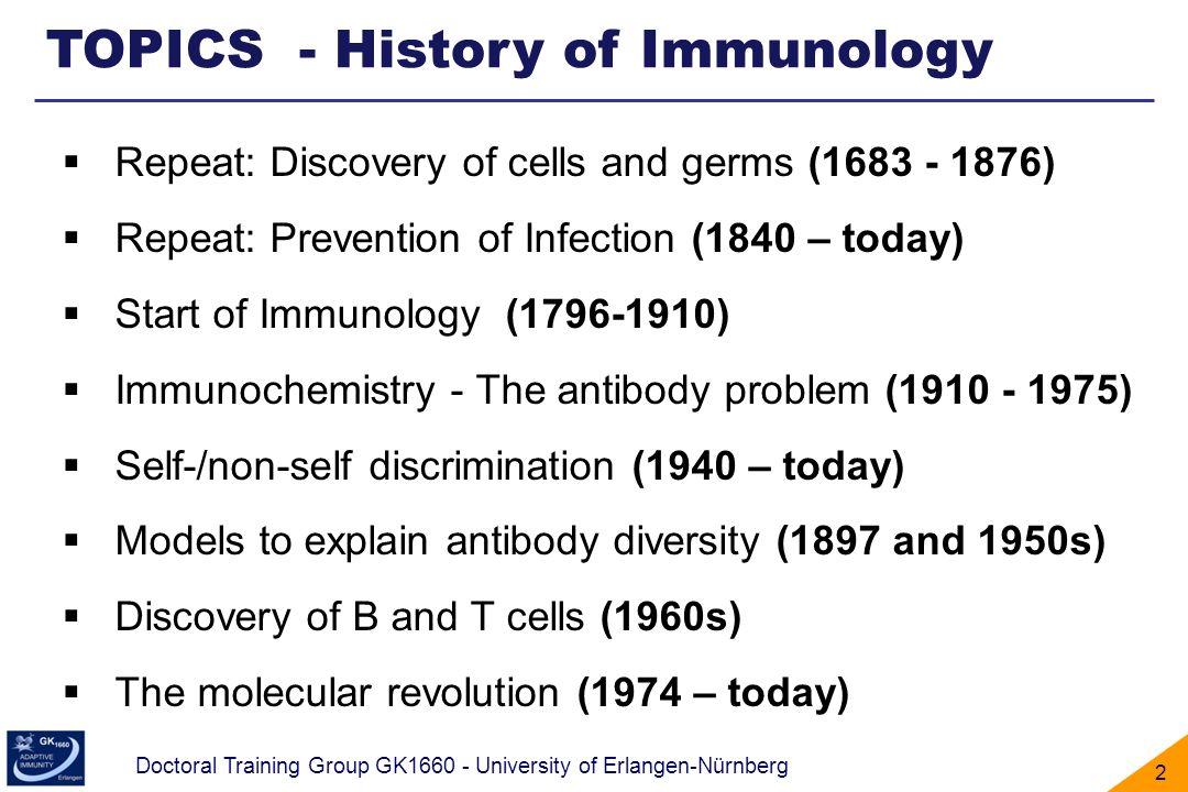 TOPICS - History of Immunology