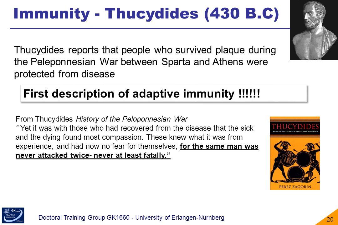 Immunity - Thucydides (430 B.C)