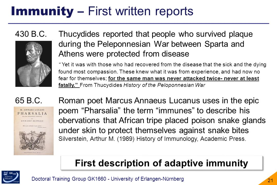First description of adaptive immunity
