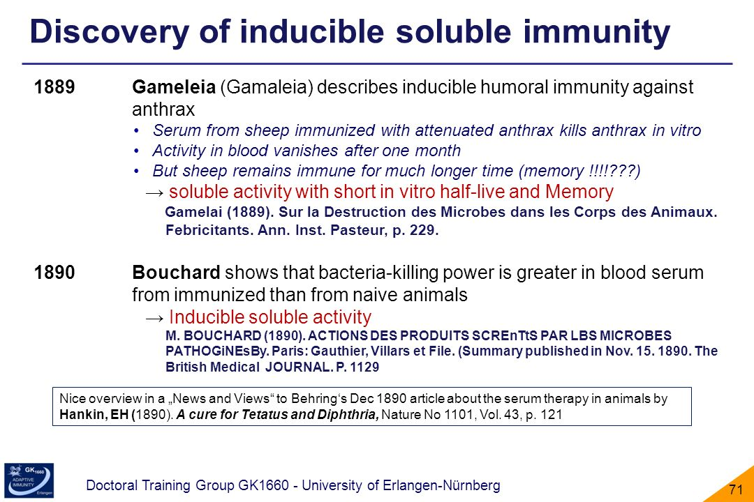 Discovery of inducible soluble immunity