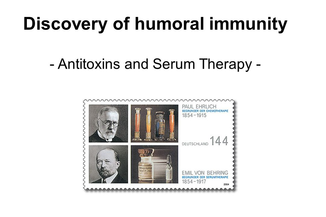 Discovery of humoral immunity