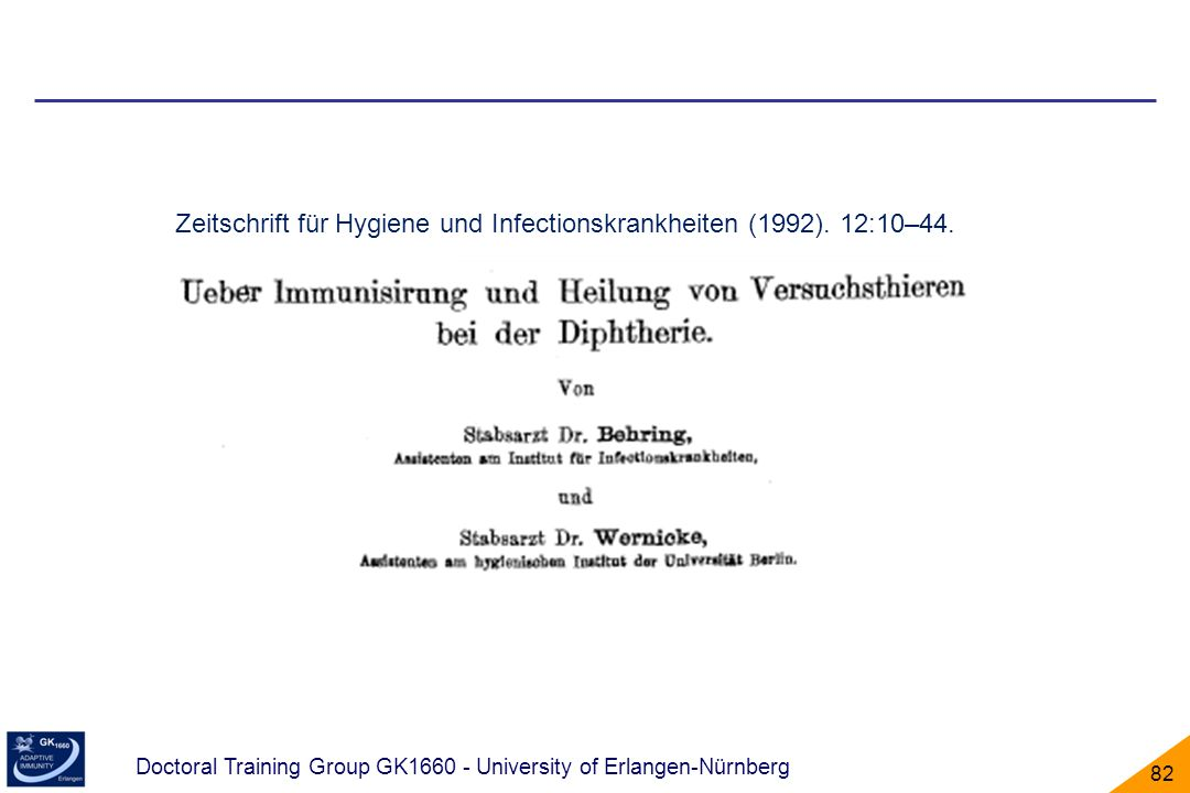 Zeitschrift für Hygiene und Infectionskrankheiten (1992). 12:10–44.