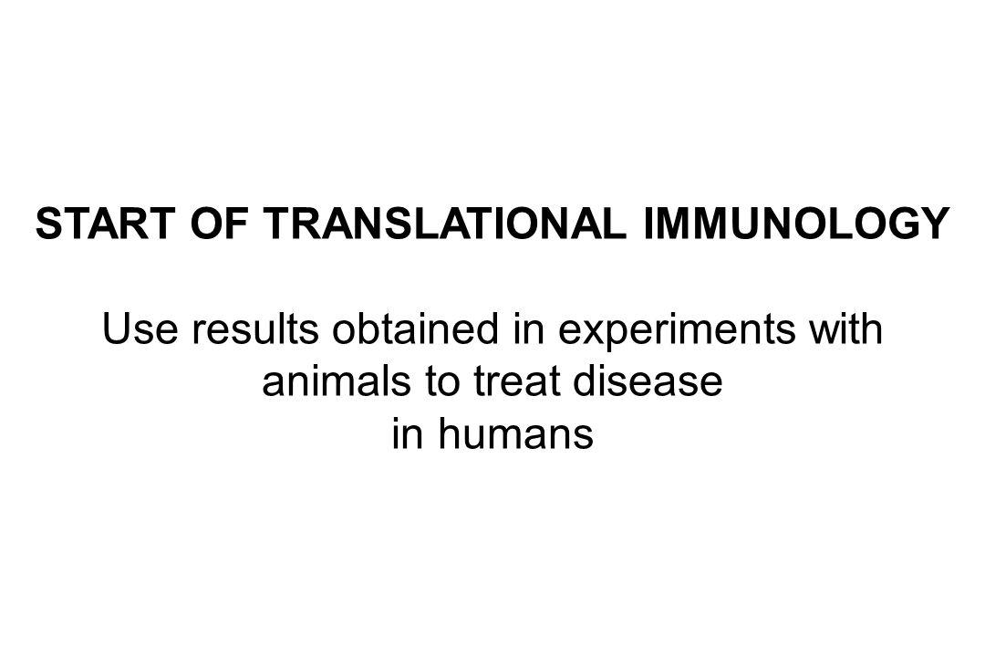 START OF TRANSLATIONAL IMMUNOLOGY