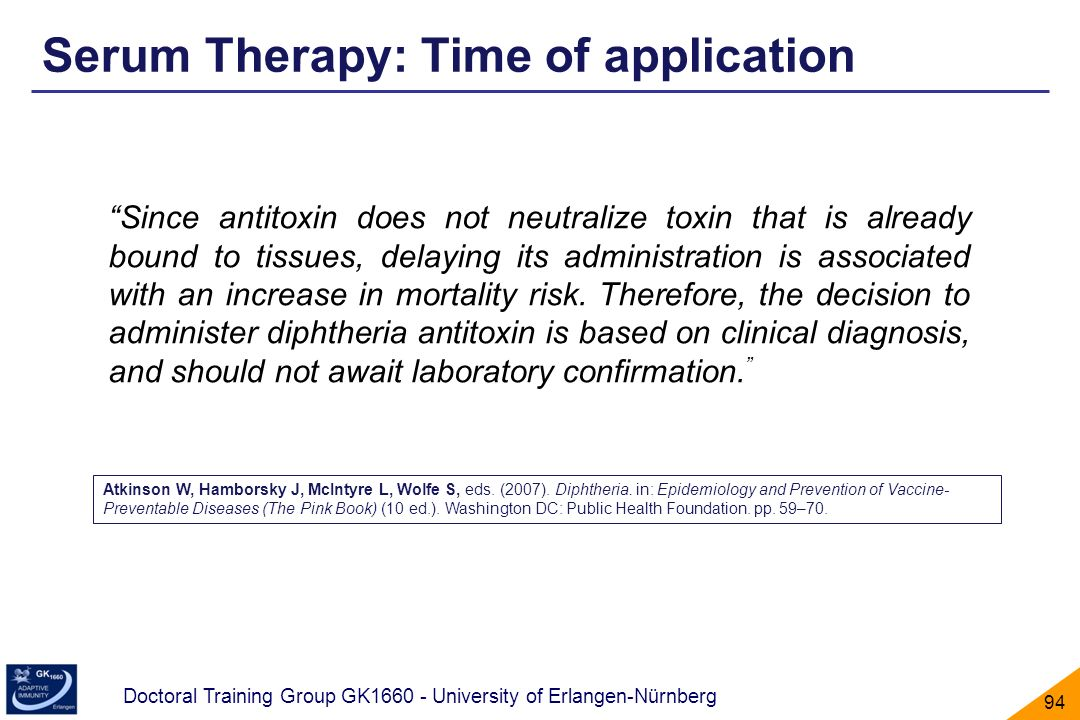 Serum Therapy: Time of application