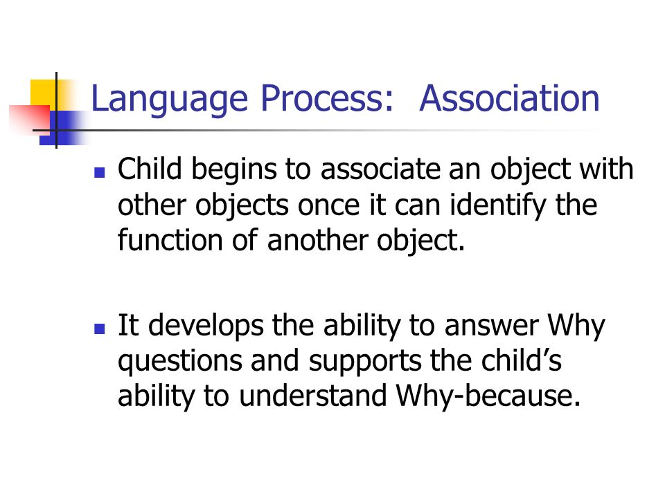 Language Process: Association