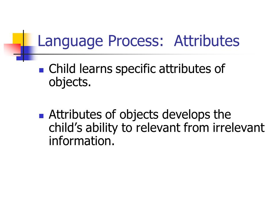 Language Process: Attributes