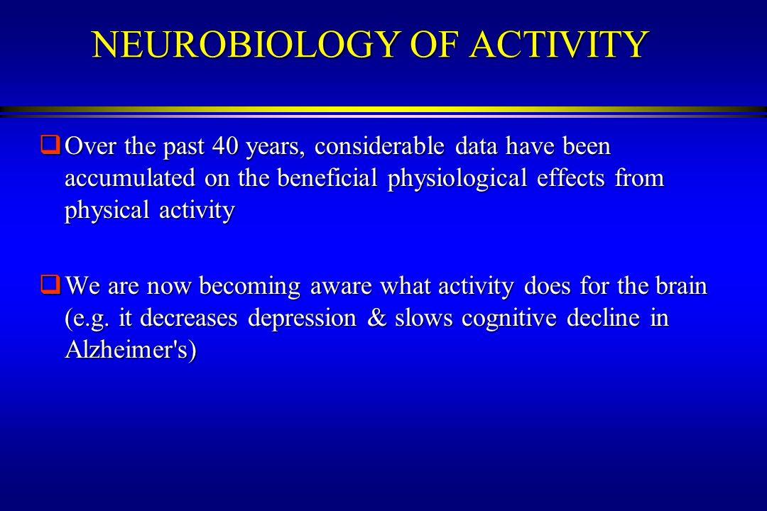 NEUROBIOLOGY OF ACTIVITY