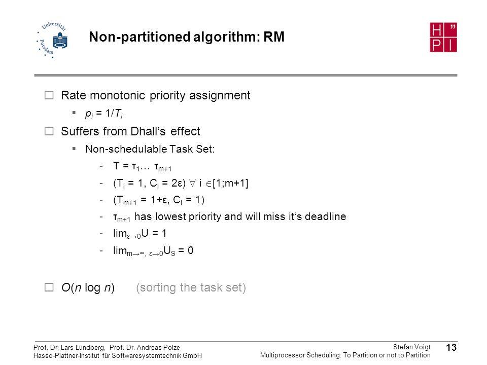 Non-partitioned algorithm: RM