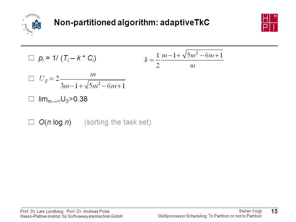 Non-partitioned algorithm: adaptiveTkC