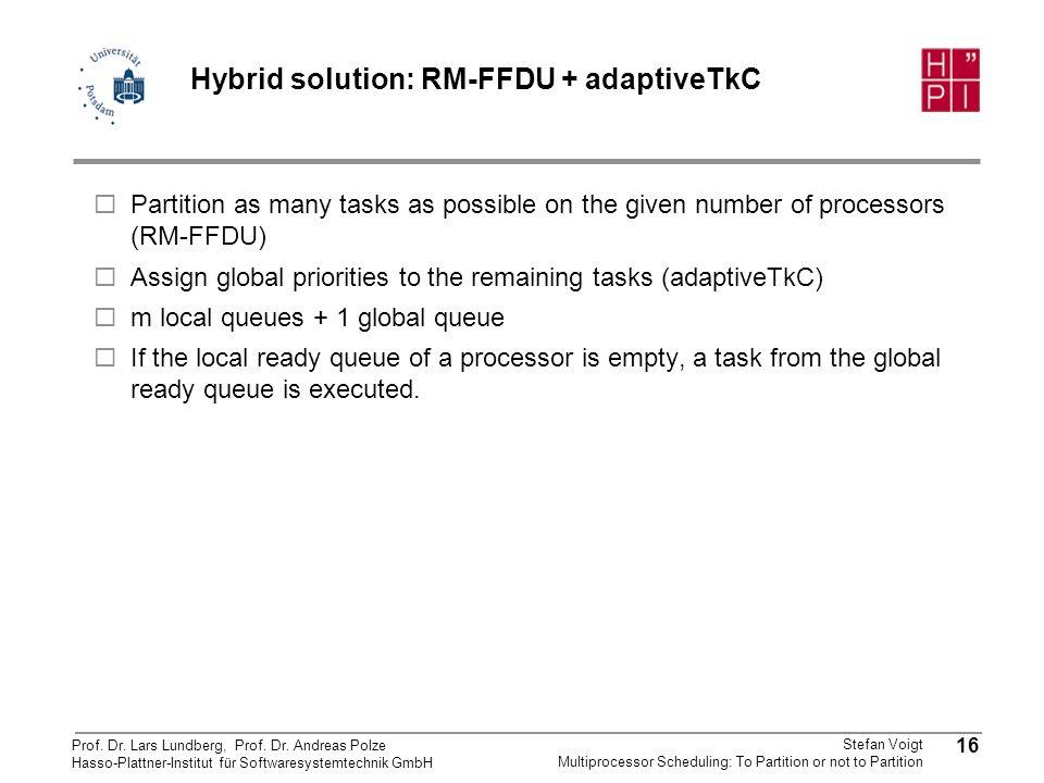 Hybrid solution: RM-FFDU + adaptiveTkC