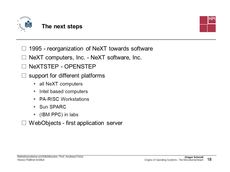 1995 - reorganization of NeXT towards software