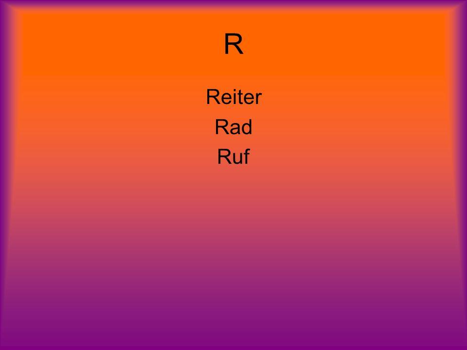 R Reiter Rad Ruf