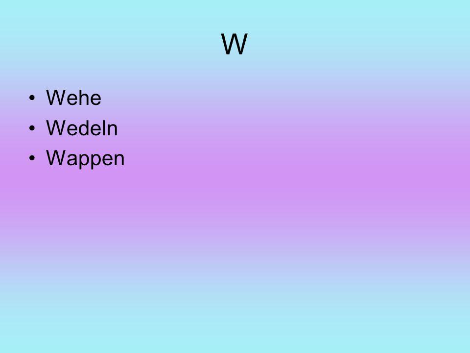 W Wehe Wedeln Wappen