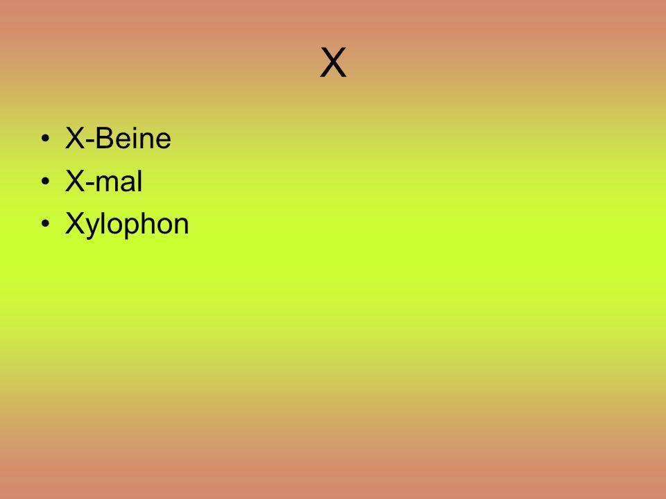 X X-Beine X-mal Xylophon