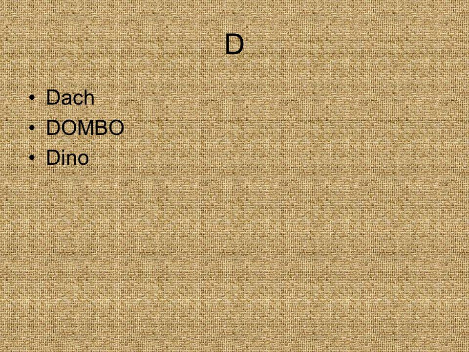 D Dach DOMBO Dino