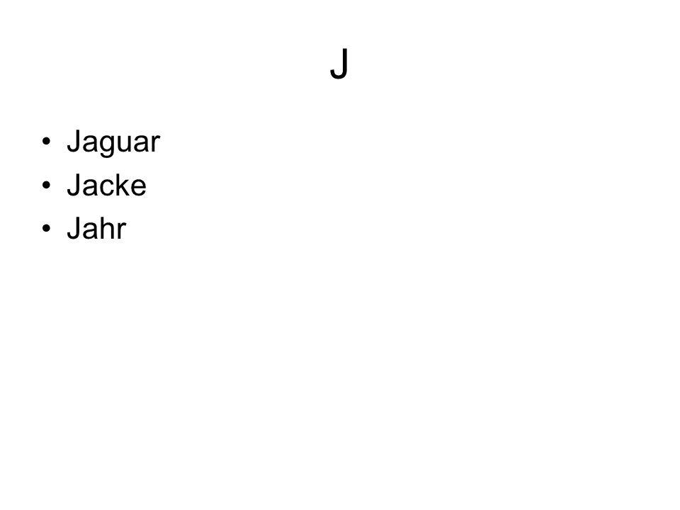 J Jaguar Jacke Jahr
