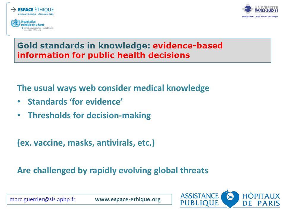 The usual ways web consider medical knowledge Standards 'for evidence'