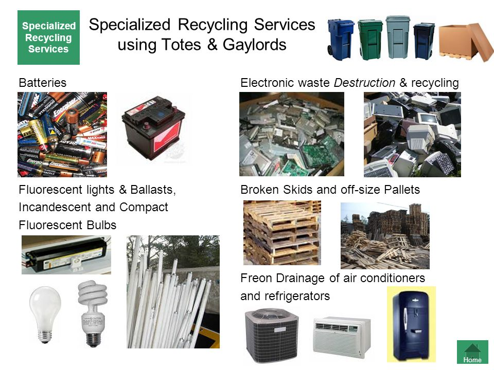 Specialized Recycling Services using Totes & Gaylords